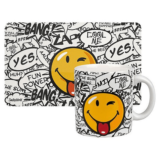 Set de desayuno SMILEY MESSAGES