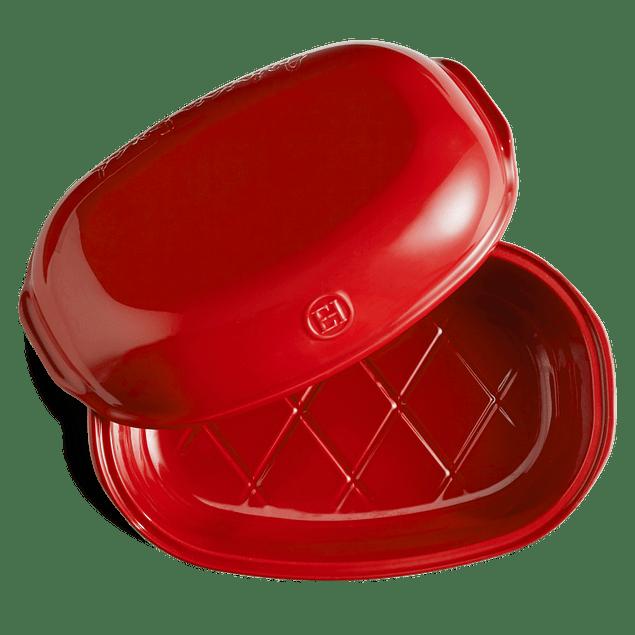 Molde Pan Artesanal 34 x 22 x 15 cm Rojo