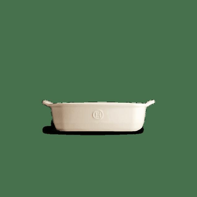 Fuente para horno cuadrada crema