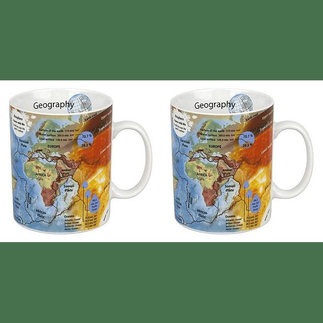 Set 2 Mugs Profesiones GEOGRAFIA