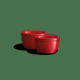 Set 2 Ramekins 9cm Rojos