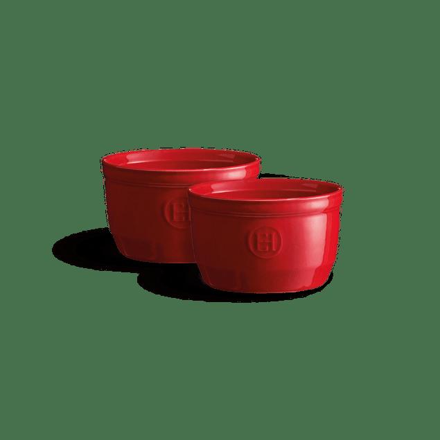 Set 2 Ramekins 10cm Rojos