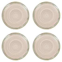 Set 4 Platos NATURE GREEN SAND