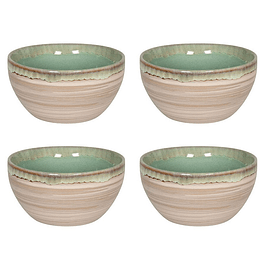 Set 4 Bowl NATURE GREEN SAND