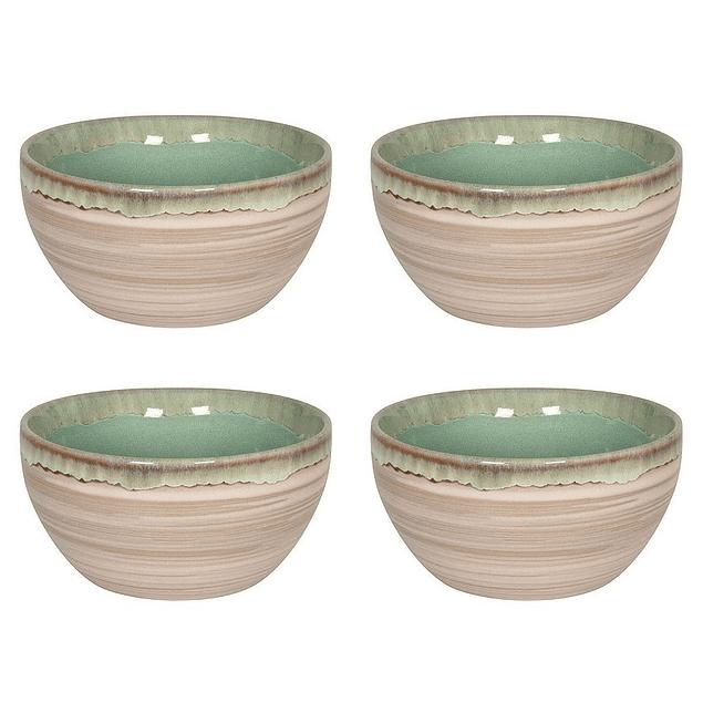 Set 4 Bowl NATURE GREEN SAND
