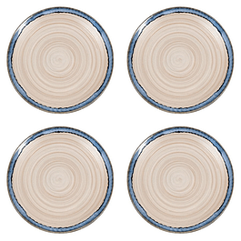 Set 4 Platos NATURE BLUE SAND