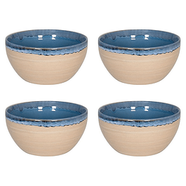 Set 4 Bowl NATURE BLUE SAND