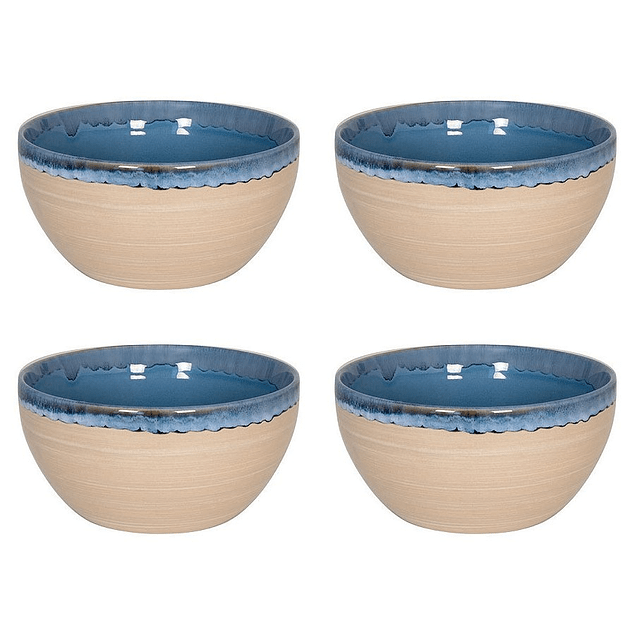 Set 4 Bowl NATURE BLUE SAND