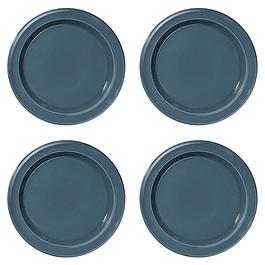 Set 4 platos de fondo 28cm Azules