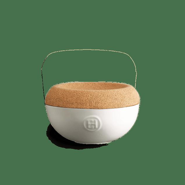 Envase de sal color blanco