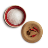 Envase de sal color rojo