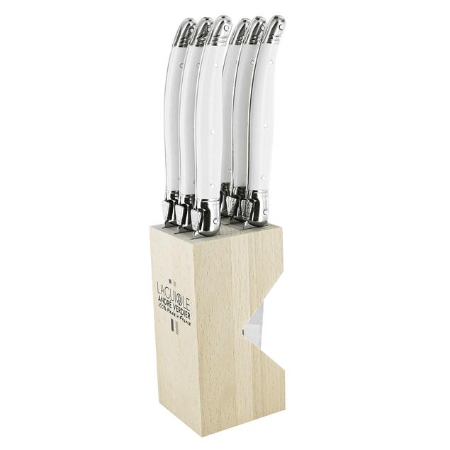 Set Cuchillos Steck 6 piezas color blanco