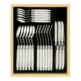 Set de 24 cubiertos Laguiole by Andre Verdier color Blanco