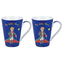 Set 2 mugs Principito azul