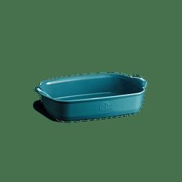 Fuente para horno rectangular pequeña azul