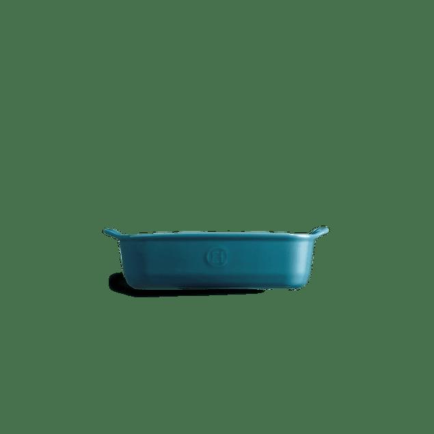 Fuente para horno rectangular individual azul