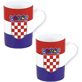 Set 2 mugs Bandera de Croacia