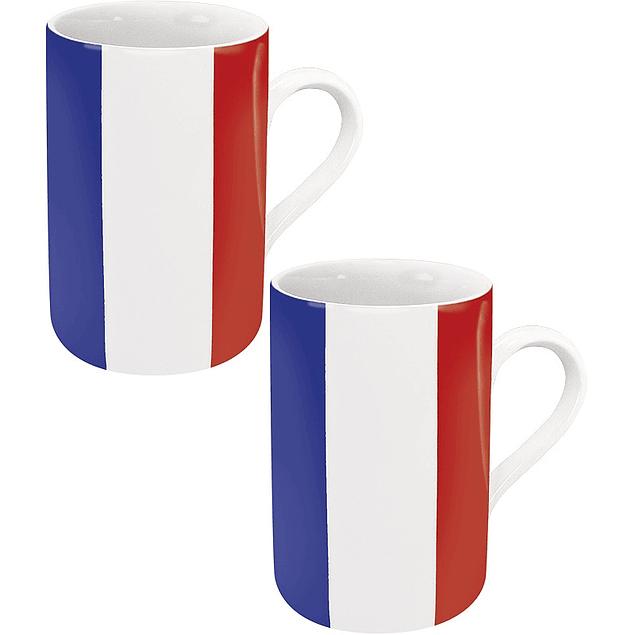 Set 2 mugs Bandera de Francia