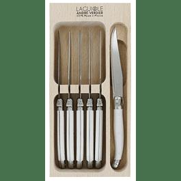 Set Cuchillo de Postre Blanco