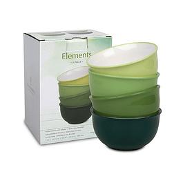 Set 4 Bowls c /caja de Regalo Elements