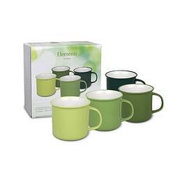 Set 4 Mugs  c/caja de regalo