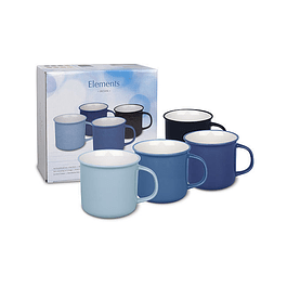 Set 4 Mugs En Caja de Regalo