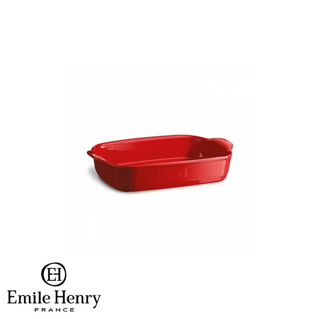 Fuente para horno rectangular individual roja