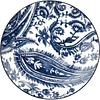 Set de 4 platos MY COLOUR IS BLUE en caja de regalo