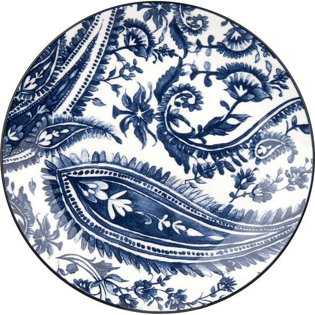 Set de 4 platos azules en caja de regalo