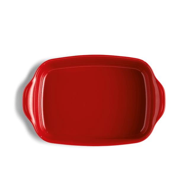 Fuente para horno rectangular mediana roja