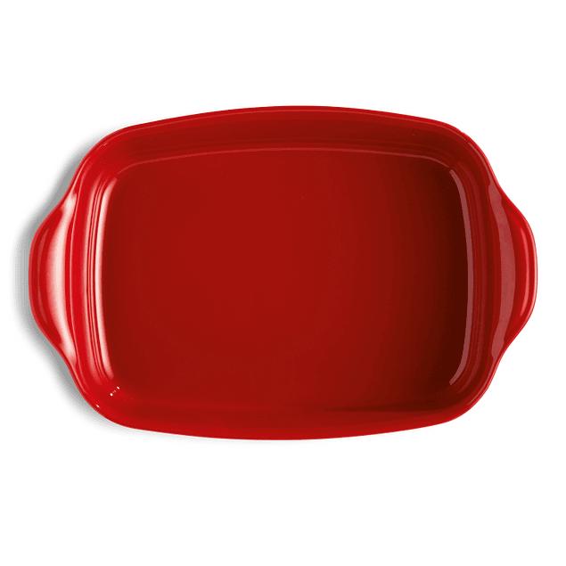 Fuente para horno rectangular grande roja