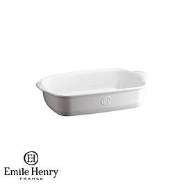Fuente para horno rectangular pequeña blanca