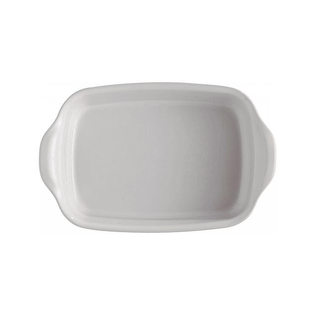 Fuente para horno rectangular mediana blanca