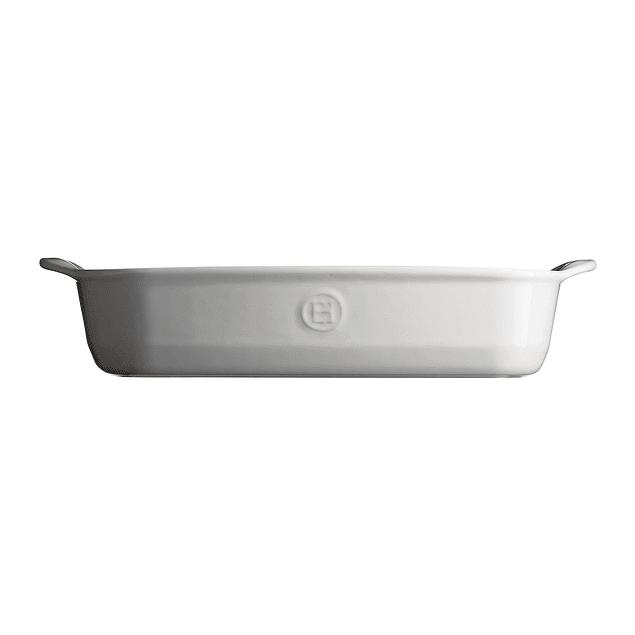 Fuente para horno rectangular grande blanca