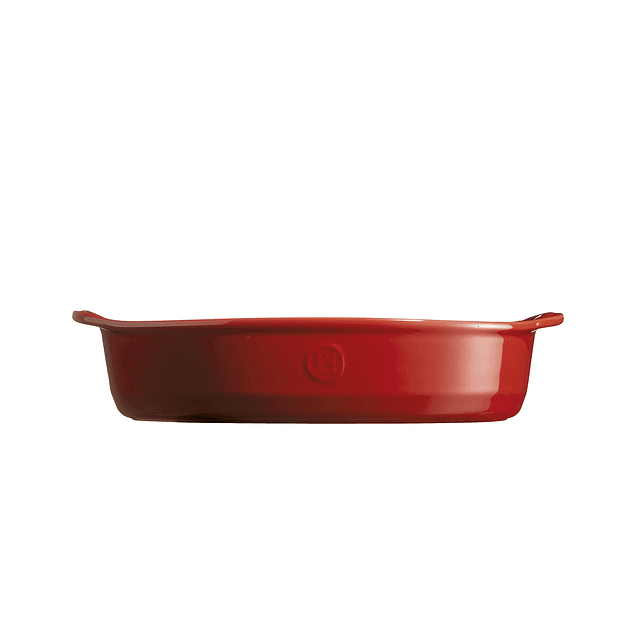 Fuente para horno ovalada mediana roja