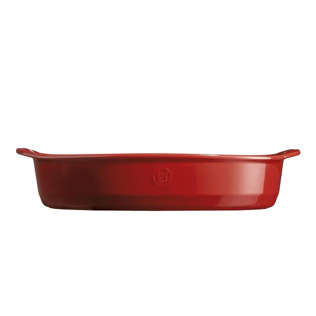 Fuente para horno ovalada grande roja