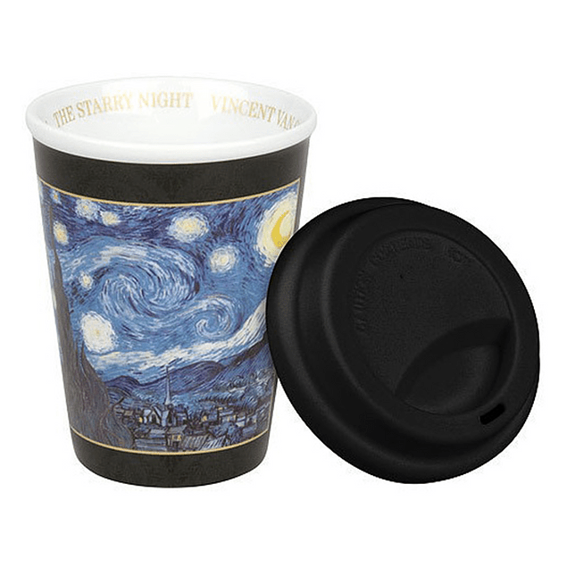 Set 2 Travel c/tapa de silicona Van Gogh STARRY NIGHT - IRISES