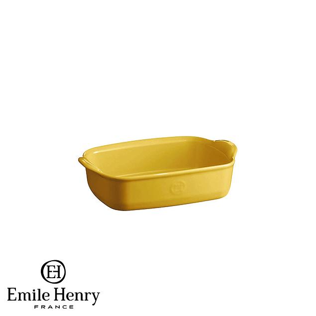 Fuente para horno rectangular individual amarilla