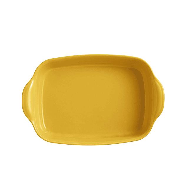 Fuente para horno rectangular mediana amarilla