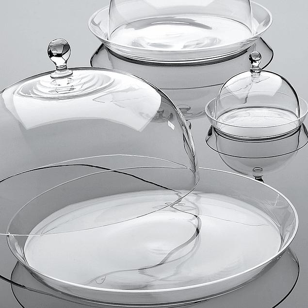 Campana con plato de vidrio 26 cm