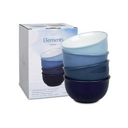 Set 4 bowls c/caja de regalo ELEMENTS OCEAN