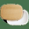 Envase para pan c/tapa color blanco