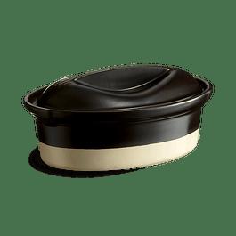 Terrine ovalada LINEA ARTESANAL color negro