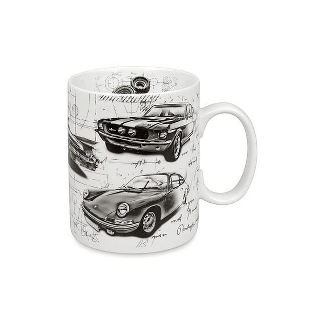 Set 2 mugs automoviles CLÁSICOS y DEPORTIVOS