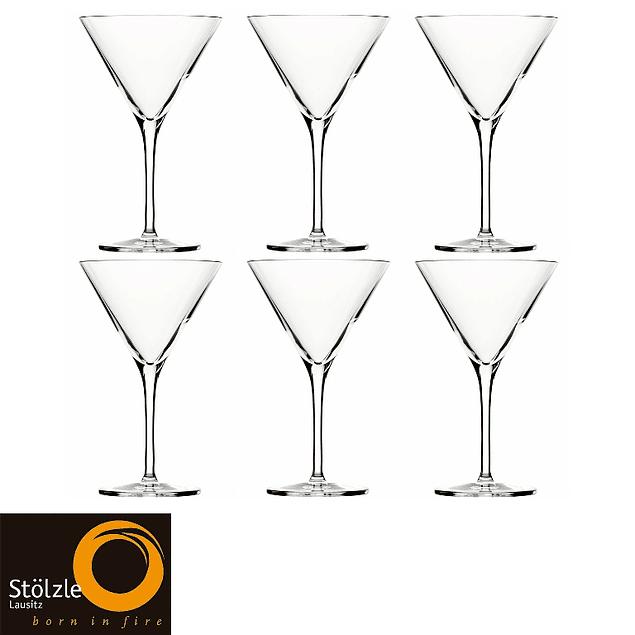 Set de 6 copas de Martini Grandezza