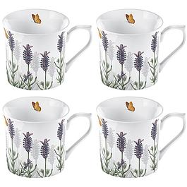 Set 4 mugs blancos Lavanda