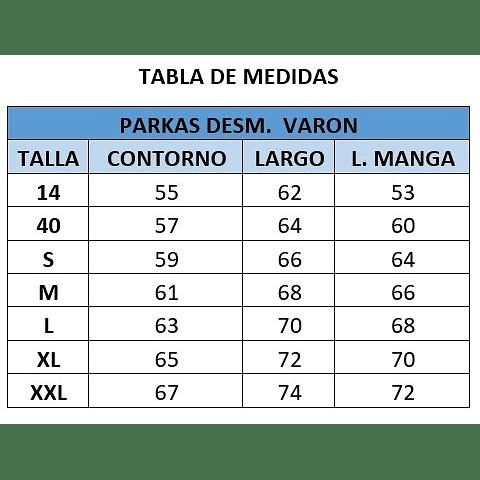 PARKA DESMONTABLE VARON C. LOS ACACIOS