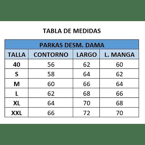 PARKA DESMONTABLE DAMA CC. PEDRO DE VALDIVIA