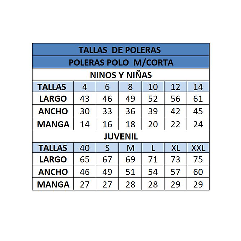 POLERA MANGA CORTA C. LOS ACACIOS