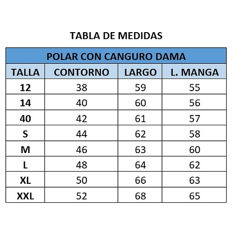 POLAR CANGURO DE DAMA CC. SAN PEDRO